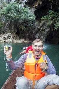Выезд из пещеры Kong Lor Cave