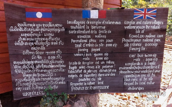 Kong Lor Cave Entrance Fee and other services
