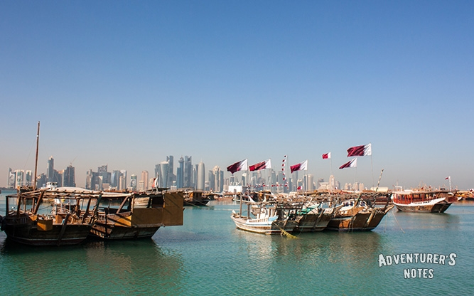 Touristic boats in the Persian Gulf