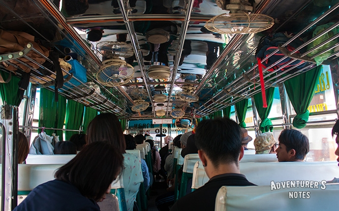 В автобусе номер 1231 до Chiang Dao