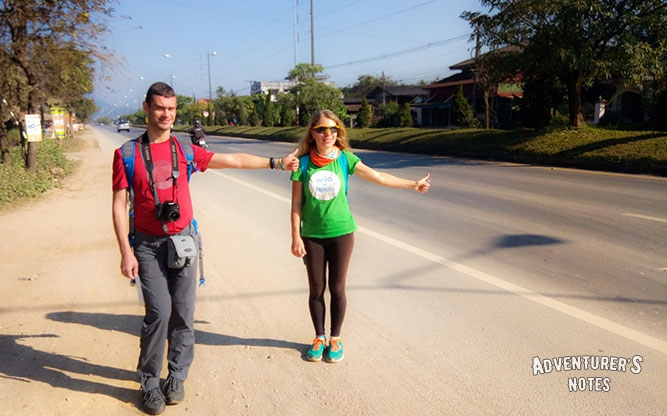 Our hitchhiking in Northern Thailand