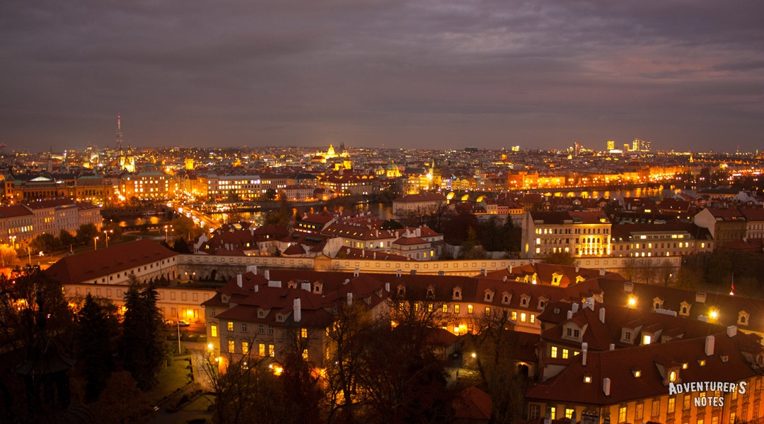 Prague in the evening