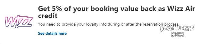 Booking through a Wizzair partner (the image is clickable)