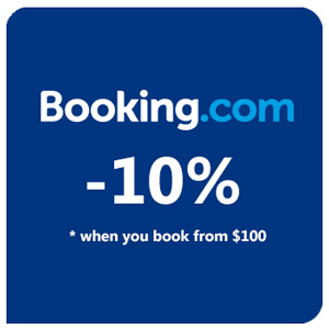 10% discount on booking.com