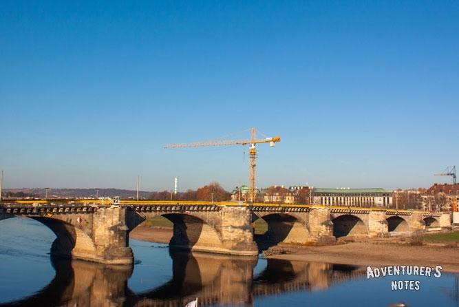 Мост Августа через р. Эльба, Дрезден