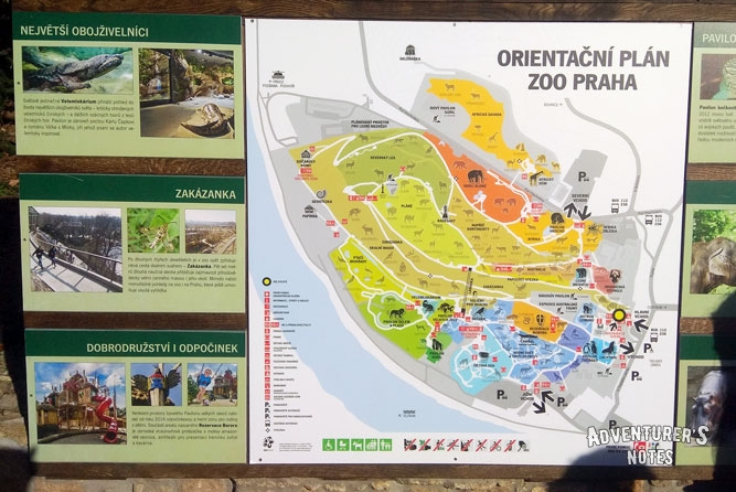 Prague Zoo Map